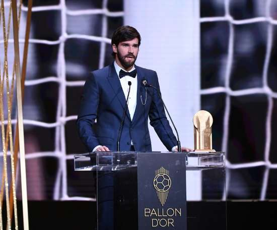 Alisson praised Messi. AFP