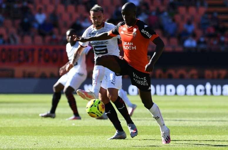 Yoane Wissa prolonge jusqu'en 2024 à Lorient. AFP