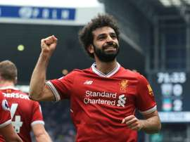 Salah has matched Luis Suarez's record of 31 goals in a PL season. AFP