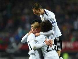 Alemanha 100% vitoriosa na caminhada para o Campeonato do Mundo de Seleções. AFP