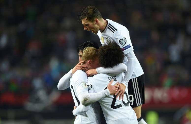 Germany win historic 10th World Cup qualifier. AFP