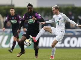 Meite ne pourra pas jouer contre Monaco. AFP