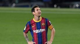 Lionel Messi é o maior artilheiro das história do duelo entre Barcelona e Real Madrid. AFP