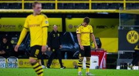 Thorgan Hazard absent quelques semaines pour blessure. AFP