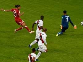 Poulsen inscrit le but de la victoire. AFP