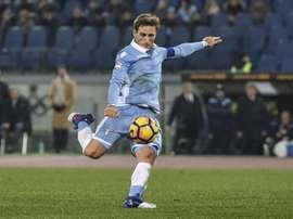 Empate a dois gols entre Génova e Lazio. AFP