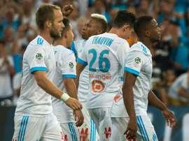 El Olympique de Marsella ganó por 3-0 al Dijon. AFP