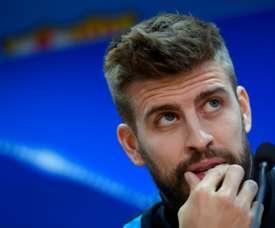 El jugador culé y el madridista están enzarzados en una disputa en las redes sociales. AFP