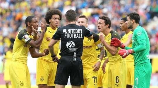 Dortmund a concédé le nul contre Hoffenheim. AFP