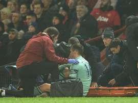 Holding s'est blessé face à United. AFP