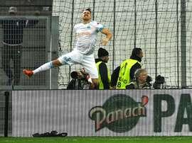 Ocampos a inscrit un doublé ce soir face aux Espagnols. AFP