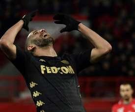 El Mónaco no pasó del 1-1 ante el Dijon. AFP