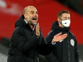 Guardiola est revenu sur le classement de Premier League. AFP