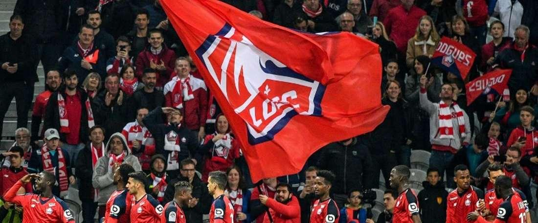 'Manita' de Lille contre Nîmes. AFP
