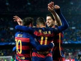 El Barça alcanza los cuartos de final de la presente edición de la Champions. AFP