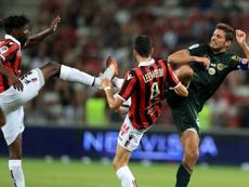Chavarria ors d'un match face à Nice. AFP