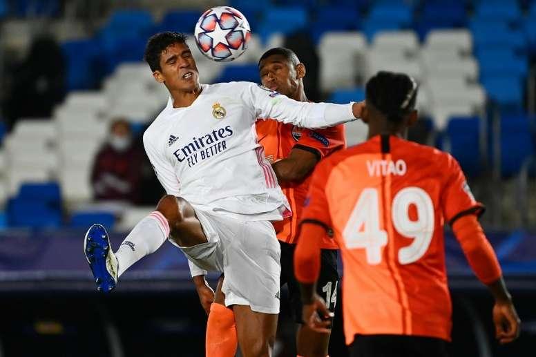 Raphaël Varane está entre os titulares do Real Madrid. AFP
