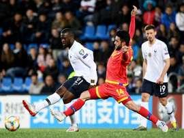 Ndombélé pense pouvoir jouer contre l'Albanie. AFP