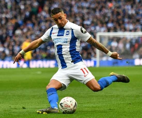 Anthony Knockaert lors du match face à Manchester City à Wembley. AFP