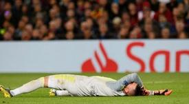 Anthony Lopes a été touché face au Barça. AFP