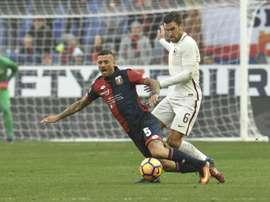 Le défenseur du Genoa Armando Izzo lors dun match contre l'AS Rome, le 8 janvier 2017 à Gênes. AFP
