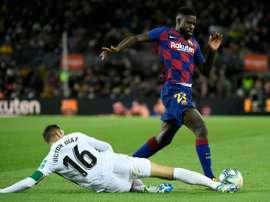 Umtiti convainc Setién et restera au Barça. AFP