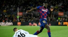 Samuel Umtiti avec la réserve du Barça. afp