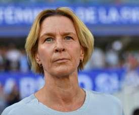 La sélectionneuse de l'équipe d'Allemagne féminine Martina Voss-Tecklenburg. AFP