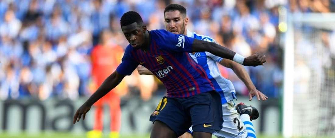 Dembélé, sauveur du Barça. AFP