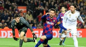 Courtois évoque Messi lors d'une interview. AFP