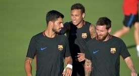Suárez tocó todos los palos del Barça. AFP