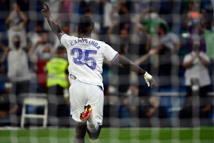 Camavinga asistió en la victoria contra el Inter. AFP