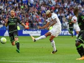Mariano anotó el 1-0 ante el Guingamp. AFP