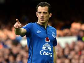 Leighton Baines sealed a sensational second-half comeback for Everton. AFP