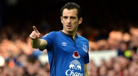 Leighton Baines will leave Everton in the summer. AFP