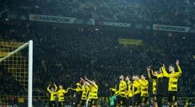 Les supporters du Borussia Dortmund exigent une équipe féminine. AFP