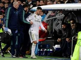 Eden Hazard manquera le derby. AFP