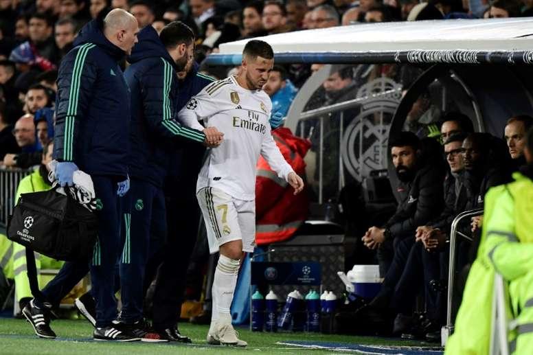 Thomas Meunier a évoqué la blessure sur Hazard. AFP