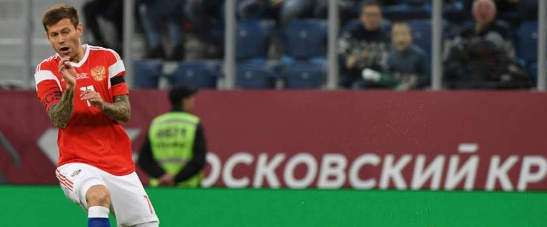 Rússia e Turquia empataram a uma bola. AFP