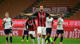 Zlatan fait de la prévention. afp