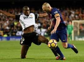 Iniesta não vai a jogo frente ao Villarreal. AFP