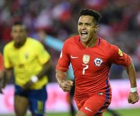 Alexis Sanchez ne jouera pas cet été. AFP