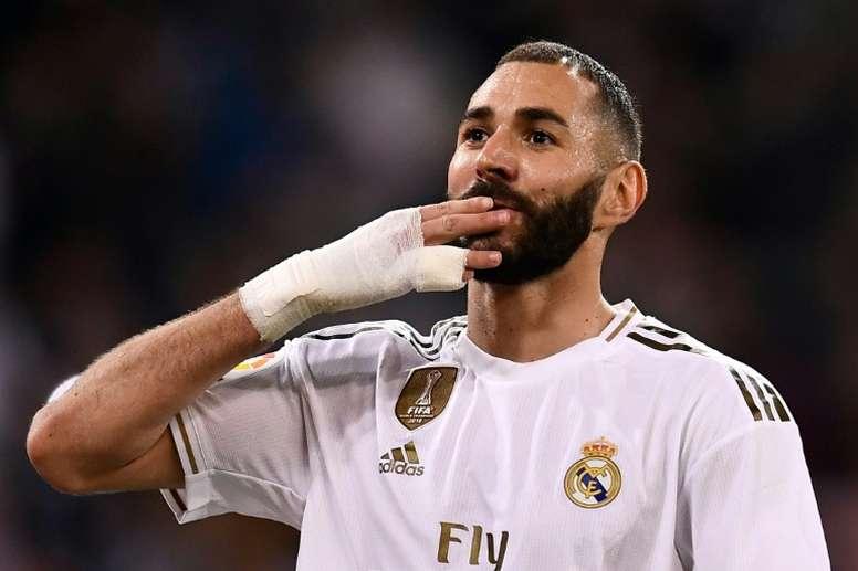 Benzema é o francês que mais marcou gols por um clube de outro país. AFP