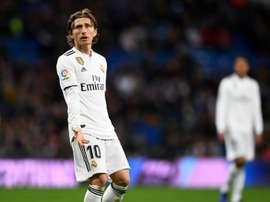 El técnico no ha convocado a Modric para el duelo contra el Girona. AFP