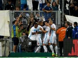 El Olympique de Marsella consiguió remontar e imponerse al Nantes. AFP