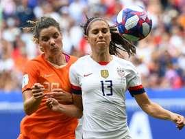Les Américaines accrochées par les Néerlandaises à la mi-temps. AFP