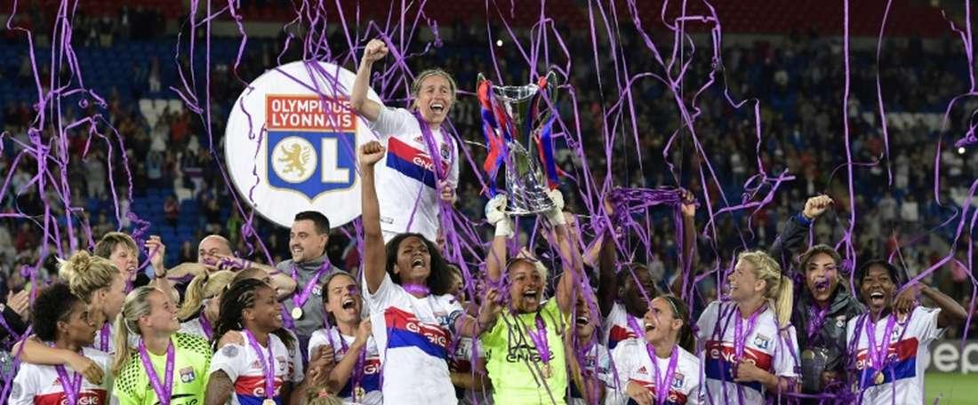Les Lyonnaises sont au nombre de 8 dans le onze type de la Ligue des champions féminine. AFP