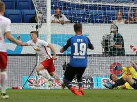Sabitzer anotó el segundo tanto del Leipzig. AFP