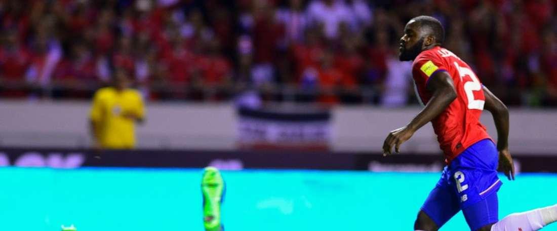 Joel Campbell marque pour le Costa Rica et les Etats-Unis sombrent, le 15 novembre 2016 à San Jose