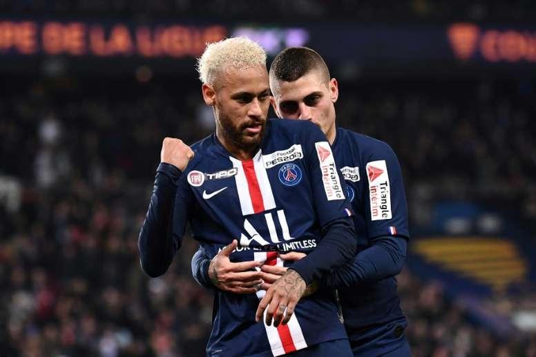 Le groupe du PSG pour affronter Monaco en Ligue 1. AFP